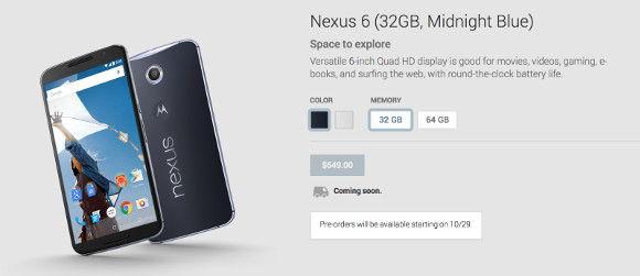 nexus 6 preorder