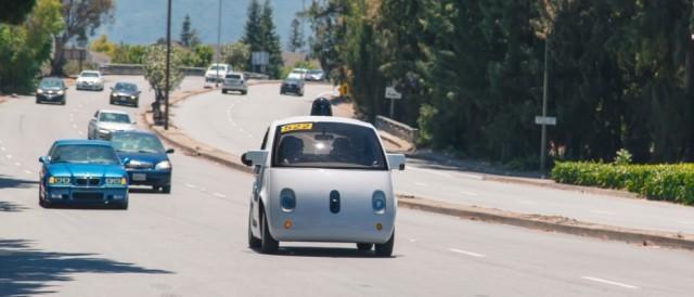Google self driving car public road