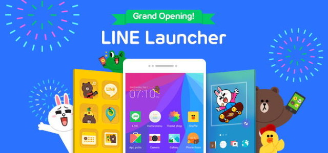 Messaging App LINE Creates Its Own Android Launcher | Ubergizmo
