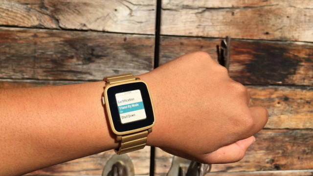pebble time stand by mode