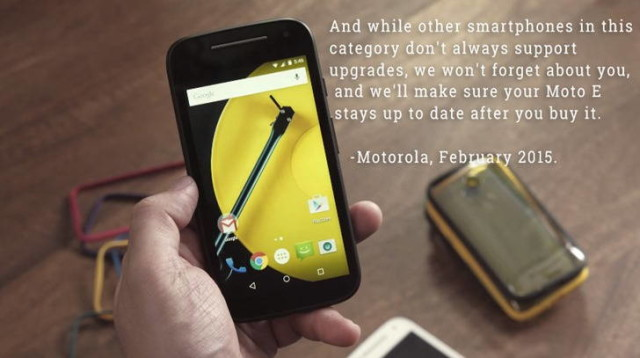 moto e android 60