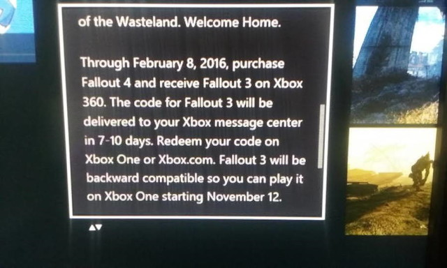 Xbox One Free Fallout 3 Bundle Will Expire If Not Claimed