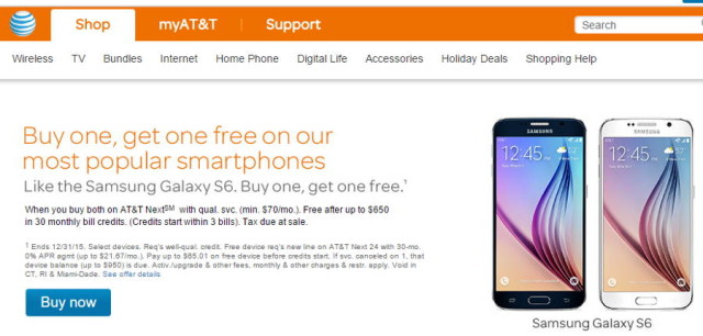AT&T Offering Buy One, Free One Promotion For Select Handsets