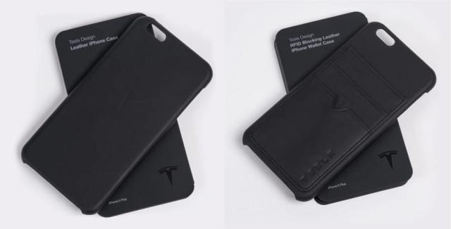 tesla iphone leather