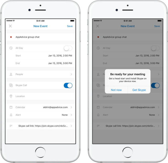 Skype Meetings Can Now Be Scheduled In Outlook For iOS