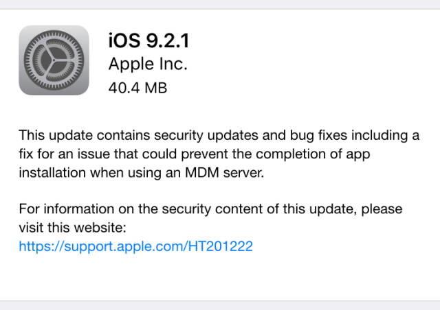 ios 921 update