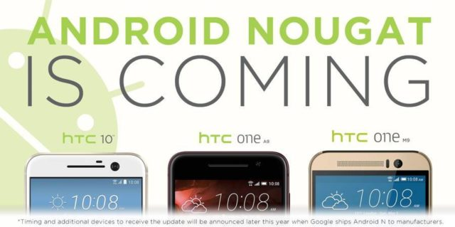 android nougat htc