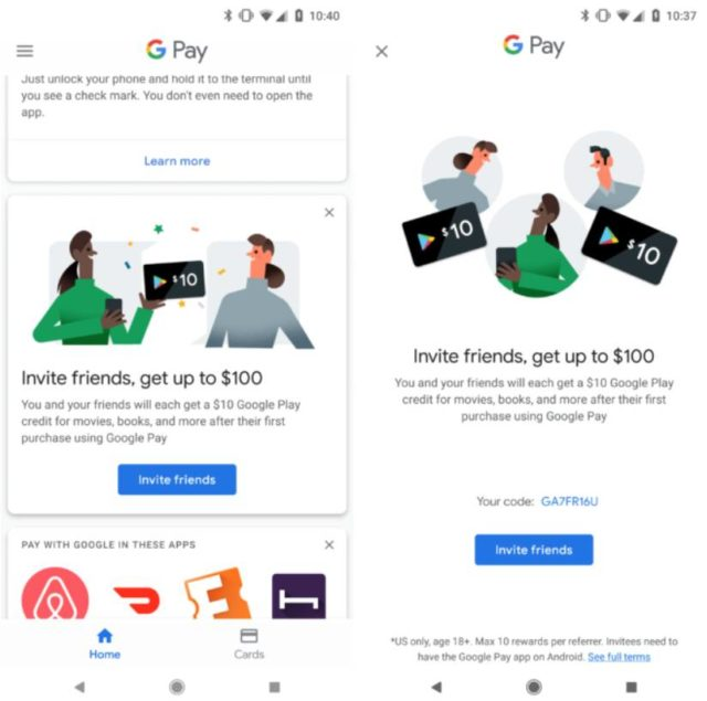 Google Pay Referral Program Lets You Earn Up To $100 In Credit