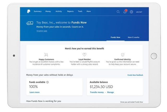 PayPal's 'Funds Now' Will Instantly Pay Businesses On The Spot