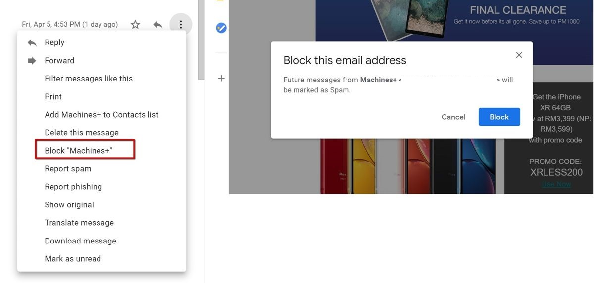How To Block Emails On Gmail | Ubergizmo