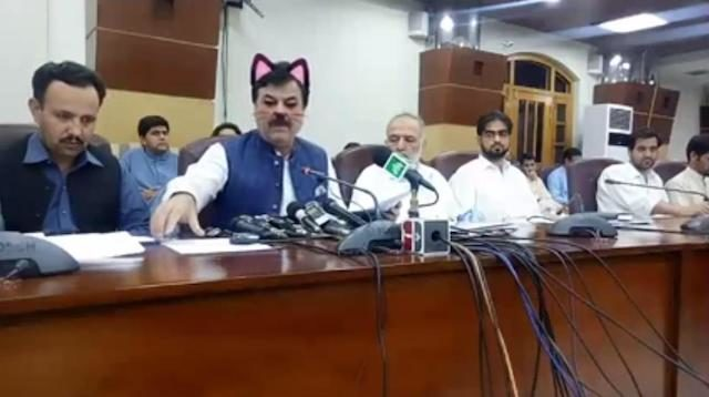 Cat Filter Spices Up Pakistani Minister's Live Press Conference