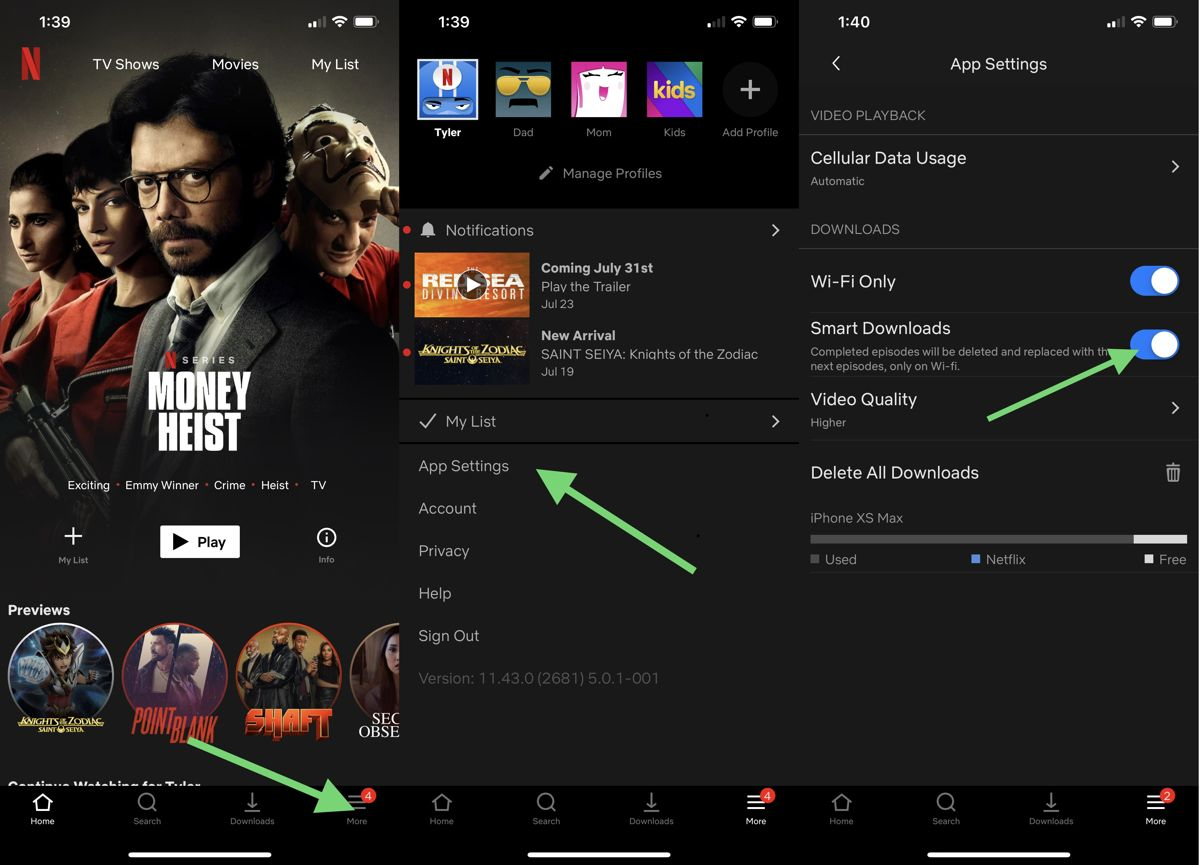How To Turn On Smart Downloads For Netflix | Ubergizmo