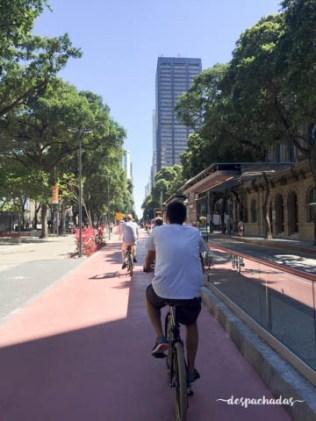 Cinelandia durante o tour de bike pelo RJ