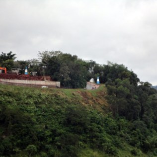 Marco das três Fronteiras em Foz do Iguaçu