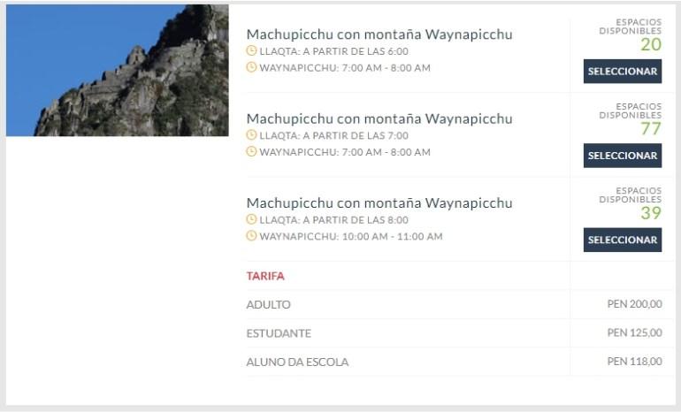 Site oficial de Machu Picchu