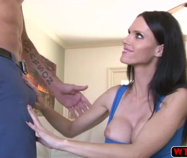 Super Horny Milf Grabs And Fucks Her Stepsons Huge And Hard Cock