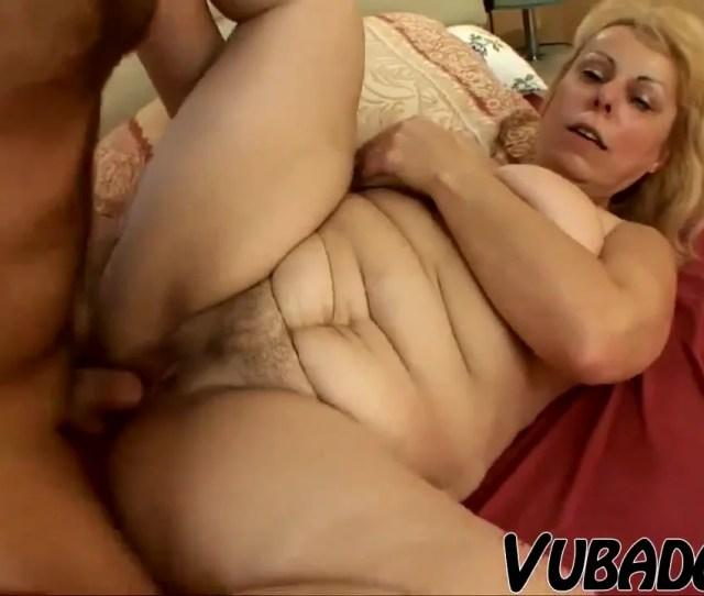 Old Gigantic Grandma Bangs With Youthful Boy