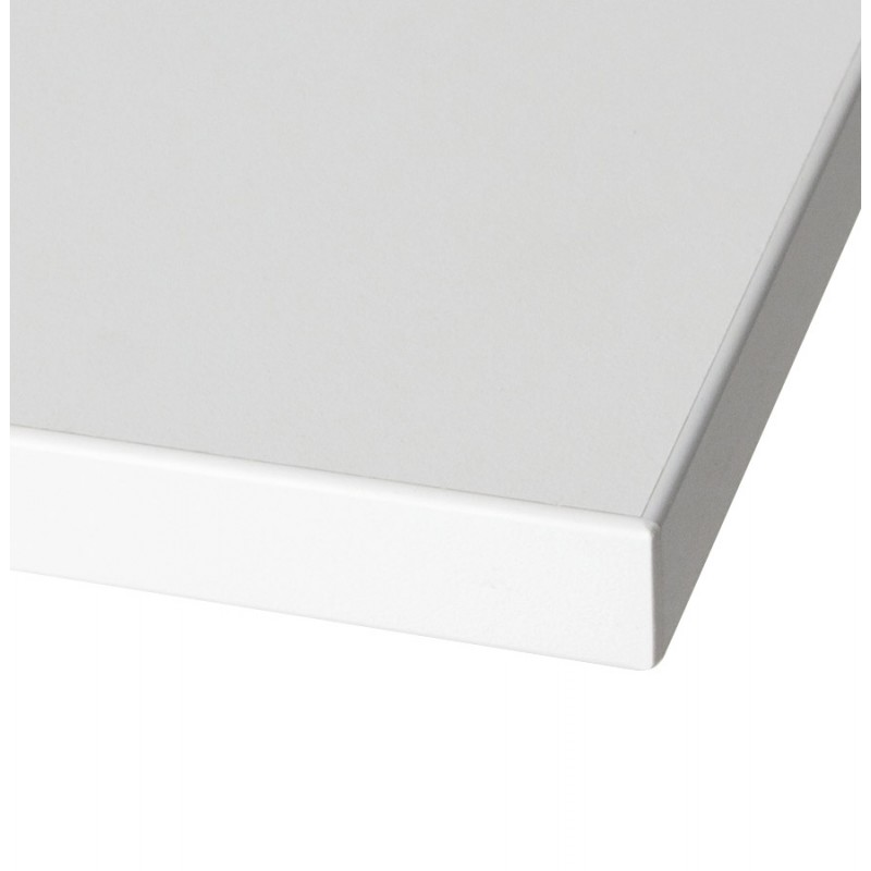 lea table top square wood laminate 60cmx60cmx2cm white support and table legs