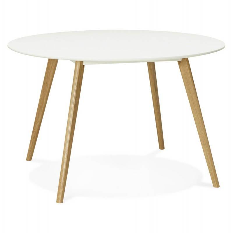 Table Manger Style Scandinave Ronde MILLET En Bois