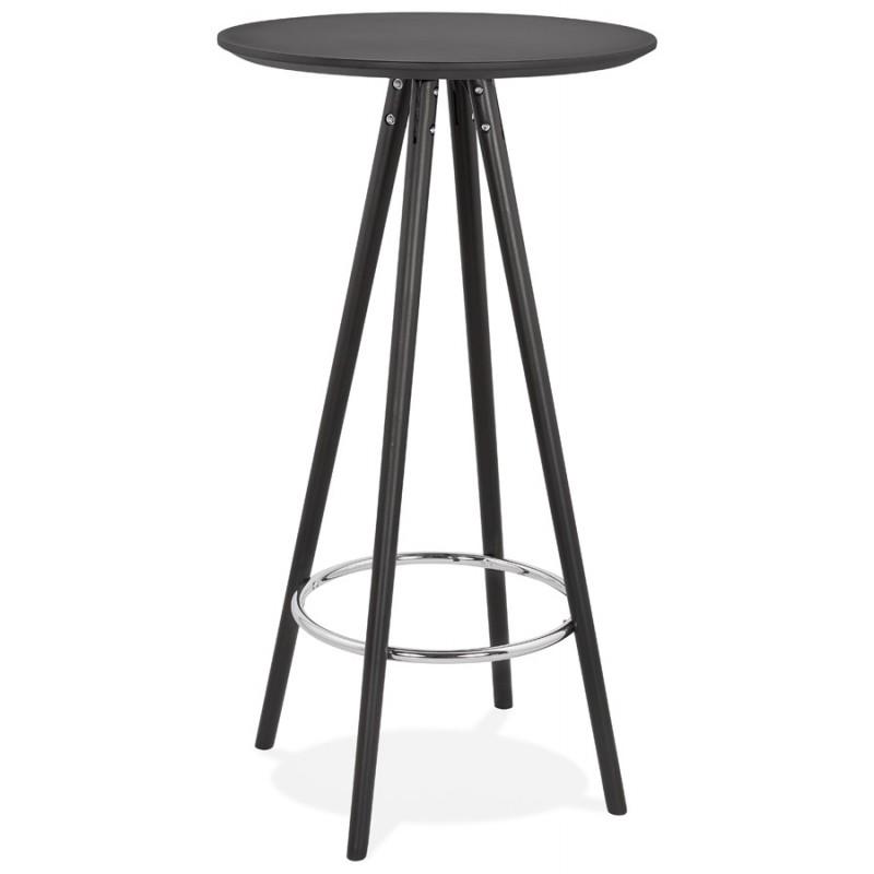 Table Haute Mange Debout Design En Bois Pieds Bois Chloe Noir