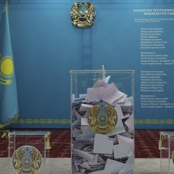 Kazakhstan's ruling party won a landslide in parliamentary elections held Sunday with nearly 72% percent of the vote