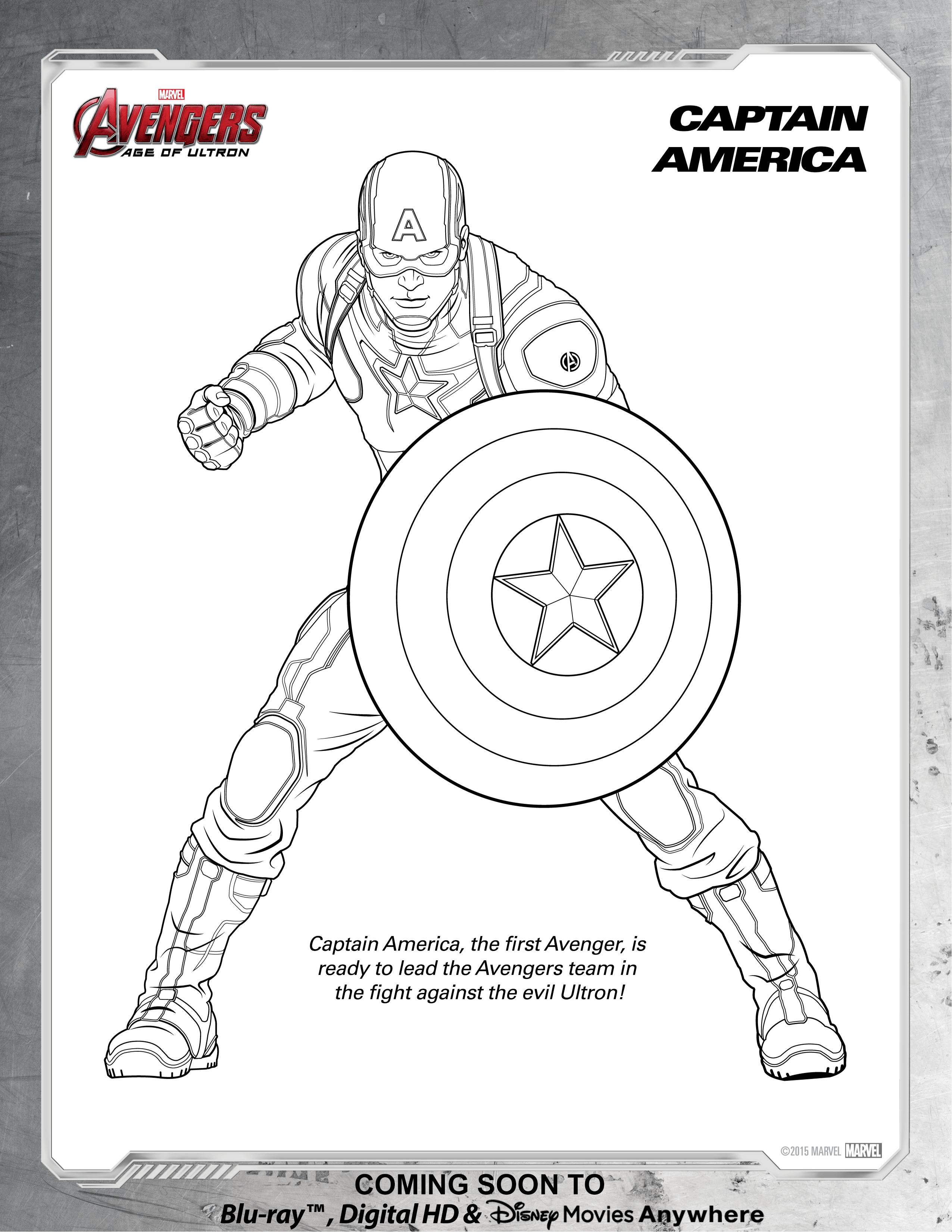 Avengers Captain America Coloring Page