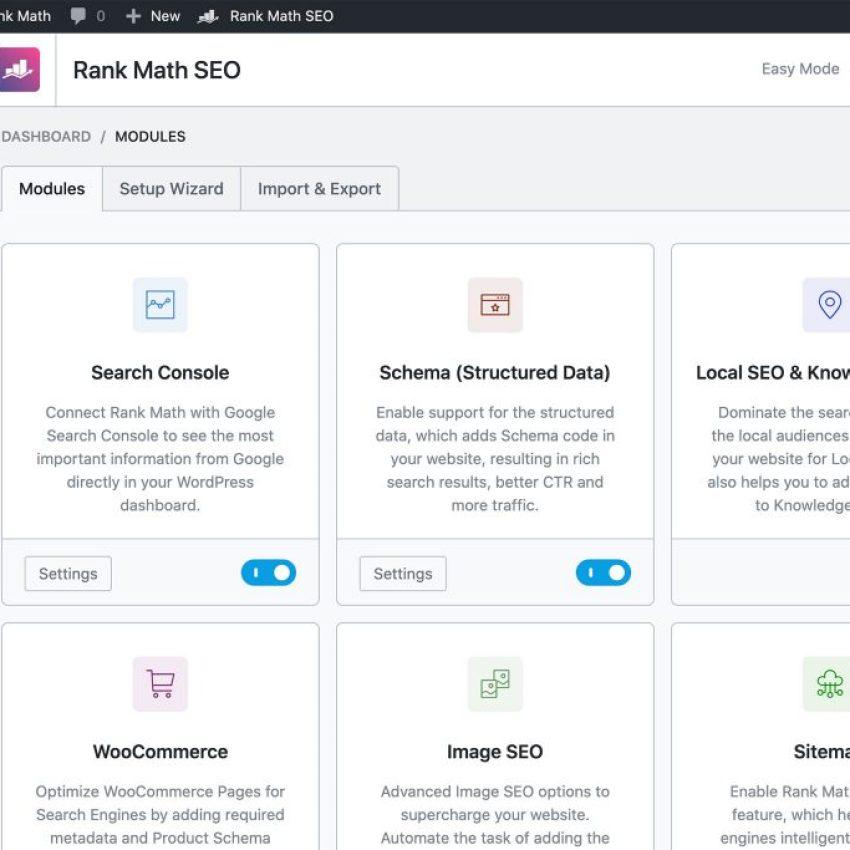 Rank Math SEO WordPress Plugin for schema