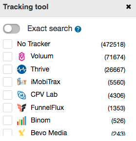 filter by tracker on spyover