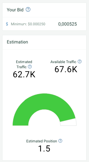 reach estimation on plugrush campaign