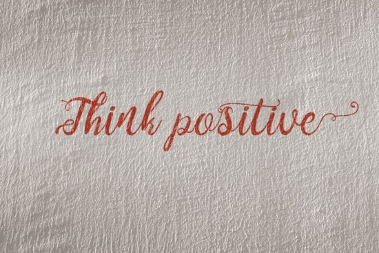 how to think positive
