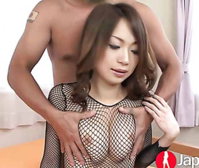 Busty Asian Black Mesh