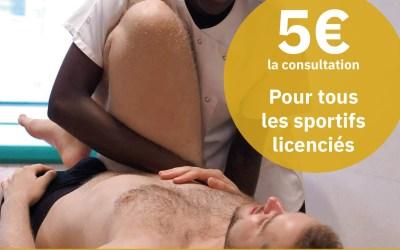 CIDO : Consultations ostéopathiques à 5€ – sportifs licenciés