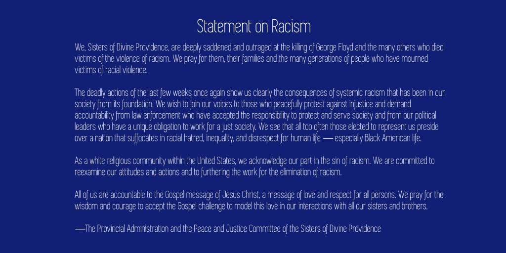 Statement on Racism CDP