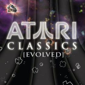 The cover art of the game Atari Classics Evolved.