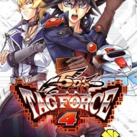 The cover art of the game Yu-Gi-Oh! 5D's Tag Force 4.