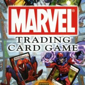 The cover art of the game Marvel Trading Card Game.