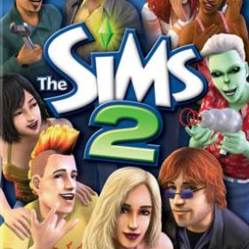 The cover art of the game The Sims 2.