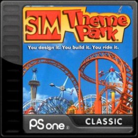 The cover art of the game Sim Theme Park.