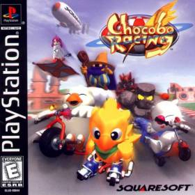 The cover art of the game Chocobo Racing.