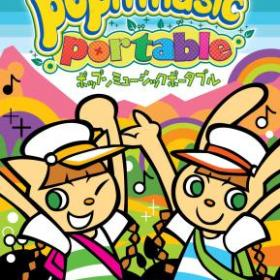 The cover art of the game Pop'n Music Portable.