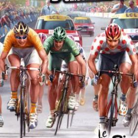 The cover art of the game Pro Cycling Season 2008: Le Tour de France.