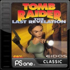The cover art of the game Tomb Raider IV: The Last Revelation.