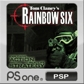 The cover art of the game Tom Clancy's Rainbow Six.