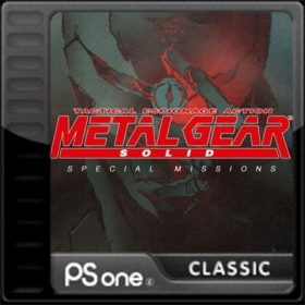 The cover art of the game Metal Gear Solid: Special Missions.