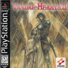 The cover art of the game Vandal Hearts II.