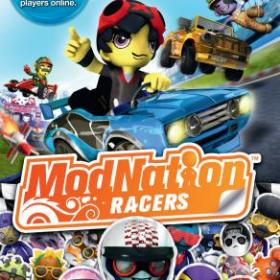 The cover art of the game ModNation Racers.