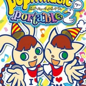 The cover art of the game Pop'n Music Portable 2.