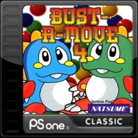 The cover art of the game Bust-A-Move 4.