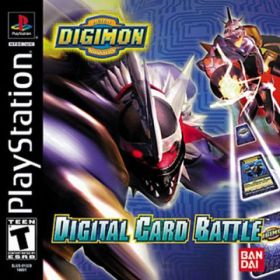 The cover art of the game Digimon Digital Card Battle.