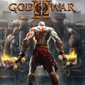 The cover art of the game God of War II.